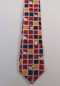 Peanuts-SNOOPY-AND-FRIENDS-Tic-Tac-Joe-Cool-Silk-Necktie-56-1-2-034-long