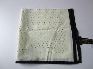 Paul Smith Ladies Dots Neck Scarf  - Length 44 cm x  W 44cm - 100% Cotton