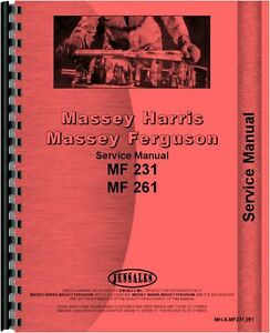 massey ferguson tractor service manual mf 231 mf 261 mh s mf231 261 rh ebay com massey ferguson 231 service manual download massey ferguson 231 operators manual download
