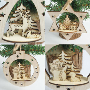 Christmas-Wooden-Carving-Ornament-Xmas-Tree-Hanging-Pendant-Home-Room-Decor-Hot