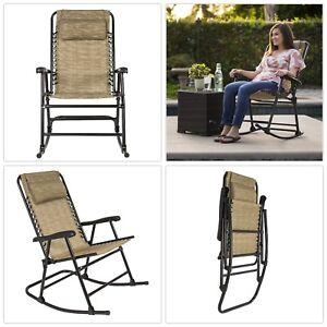 Image Is Loading Rocking Chair Large Comfortable Sturdy Steel Folding Rocker
