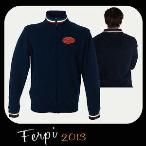 Moto Petto Ricamato Al Logo Con Felpa Tricolore Guzzi F6dF7q