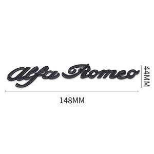 Scritta-Alfa-Romeo-nera-in-metallo-con-biadesivo-MiTo-147-156-GT-Brera-Giulia
