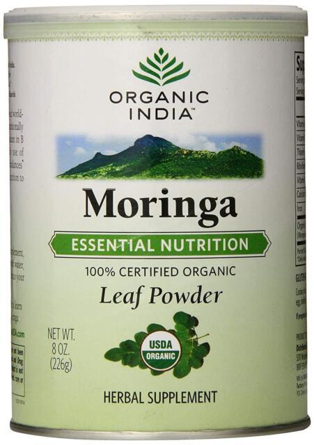 Essential Nutrition for Malnutrition Organic India Moringa Powder Herbs | 100g