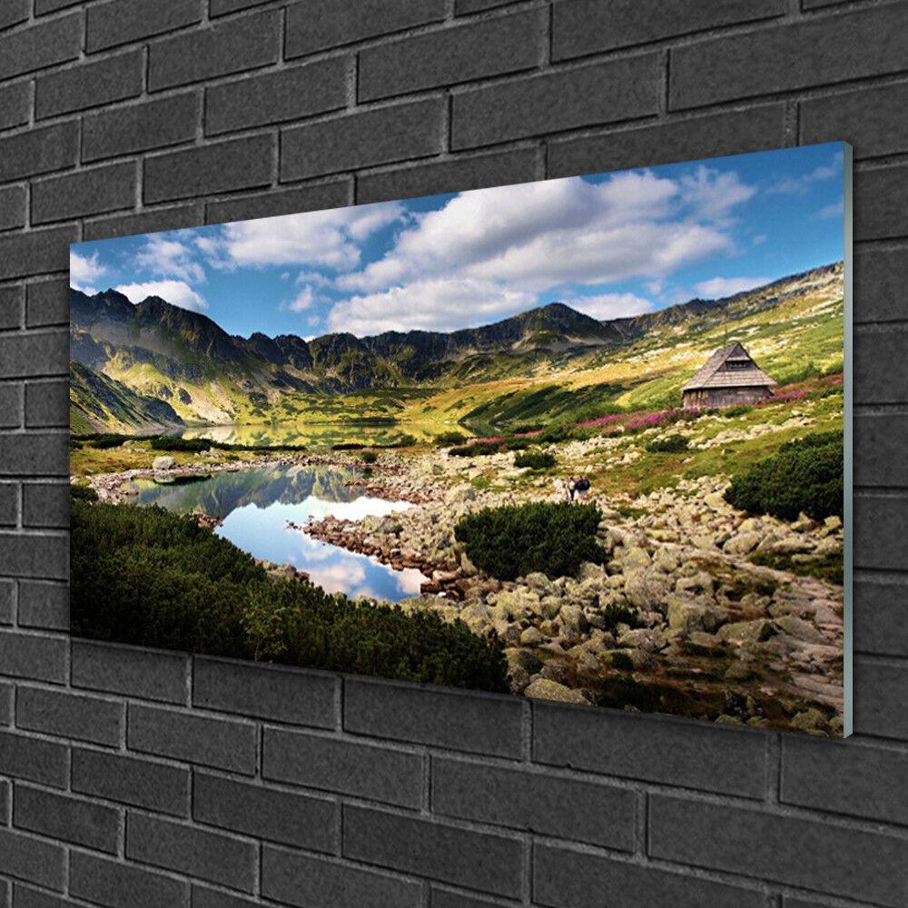 Tableau sur verre Image Impression 100x50 Paysage Montagne Lac