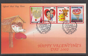 Philippine-Stamps-2002-Valentines-Complete-set-on-First-Day-Cover