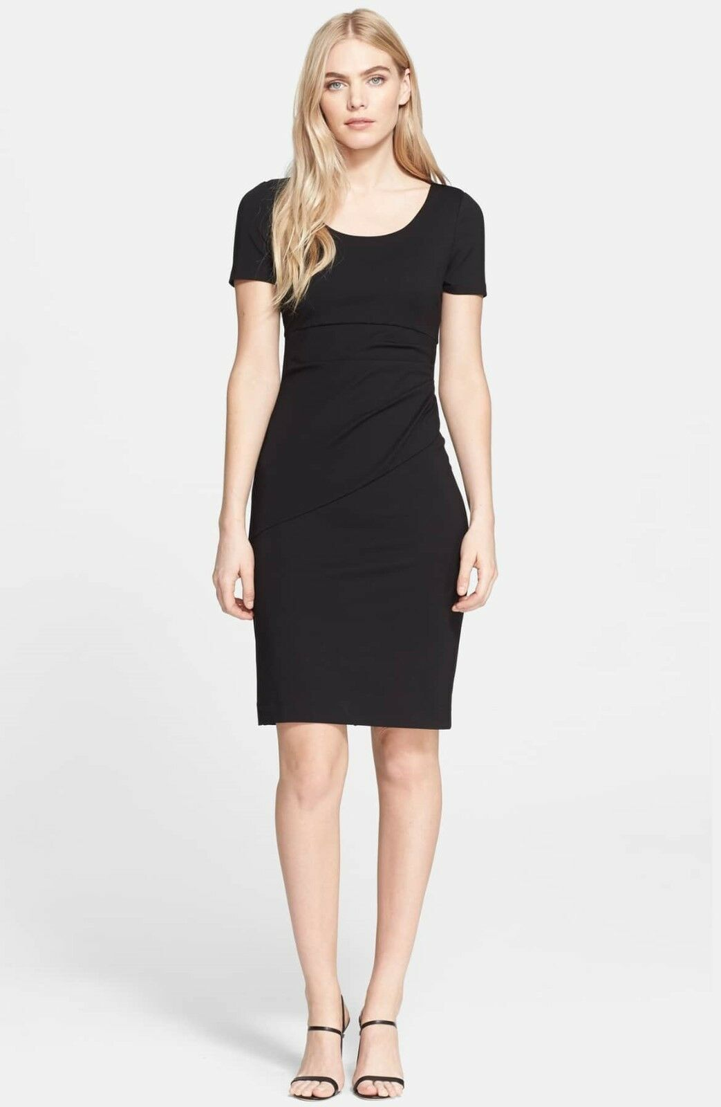 NEW Diane von Furstenberg 'Bevina' Knit Sheath Dress in schwarz - Größe 8