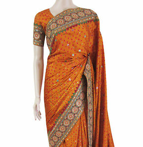 7a1f287ea6 Image is loading Party-Wear-Bollywood-Traditional-Mustard-Yellow-Green-Silk-