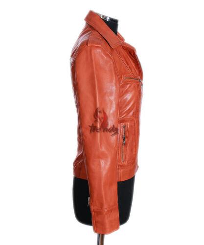 v Orange Ladies Vintage Rachel Smart s9823 Veste cuir en Retro Ppzxpv