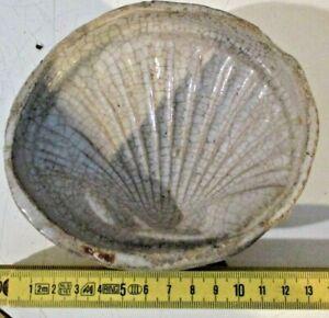 FORMELLA COTOGNATA originale ceramica CALTAGIRONE XVIII secolo Cm. 14 CONCHIGLIA