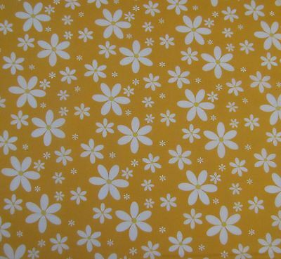 Dancing daisies polycotton fabric sold per half metre 112cm wide 5 colours