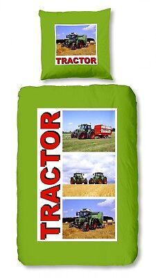 Good Morning Bettwäsche Traktor Tractor Bulldog Schlepper Grün Feld Flanell Warm Um Das KöRpergewicht Zu Reduzieren Und Das Leben Zu VerläNgern Bettwäschegarnituren Bettwäsche