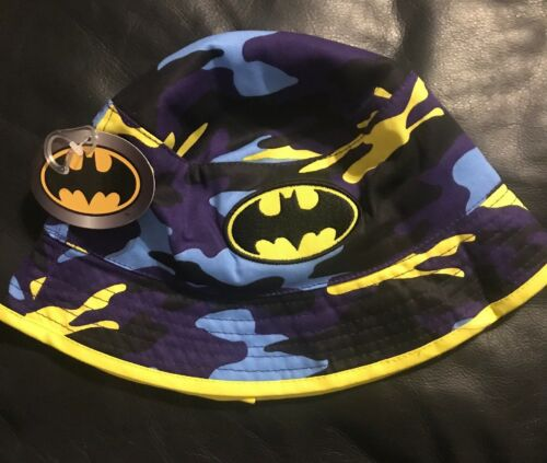 Batman Bucket Sun Shade Hat Camo Camouflage NEW Blue Yellow