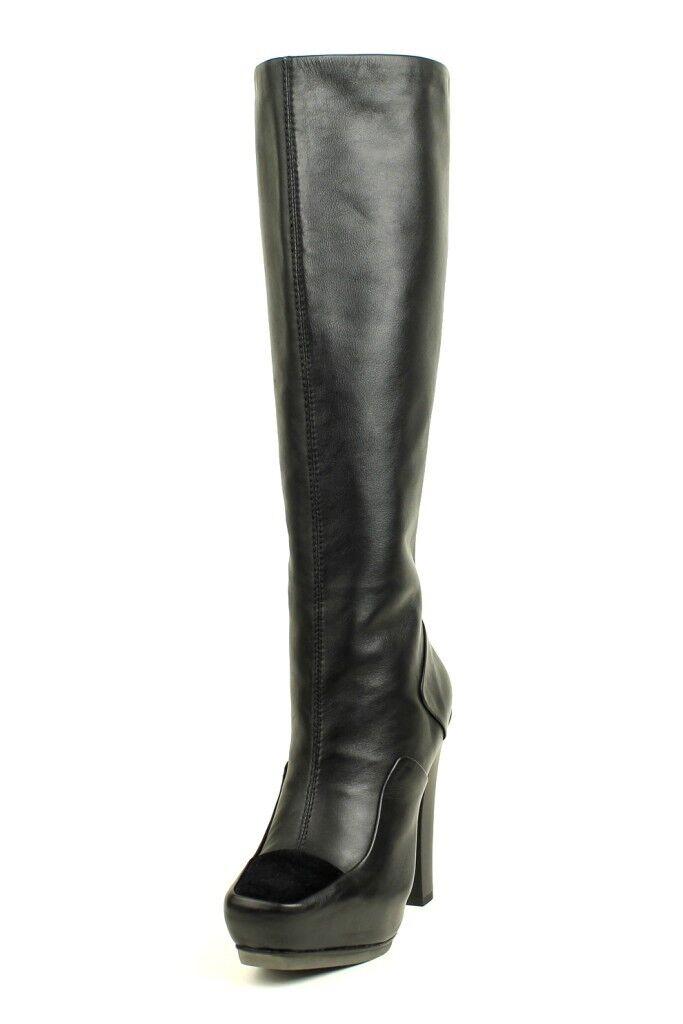 L.A.M.B. Women 525 Navigator BLACK LAMB Knee-High Boot Leather Zipper NEW