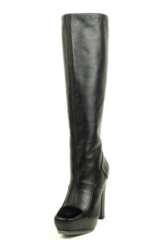 L.A.M.B. Women $525 Navigator BLACK LAMB Knee-High Boot Leather Zipper NEW