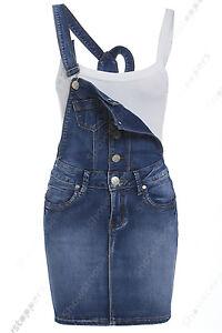 09ea326a5c33 Caricamento dell immagine in corso NUOVO-DONNA-DENIM-salopette-abito-Jeans- GREMBIULINO-BLU-