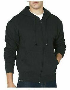 Freeway-Exchange-Mens-Full-Zip-Cotton-Blend-Hoodie-Black-L-XL-2X-3X