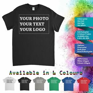Customised-Personalised-Custom-Printed-T-Shirt-Men-Women-Stag-Hen-Kids-photo-Tee