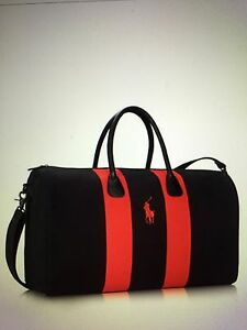 d3d15c4f21 promo code polo ralph lauren black duffle gym bag red a479a 3a490