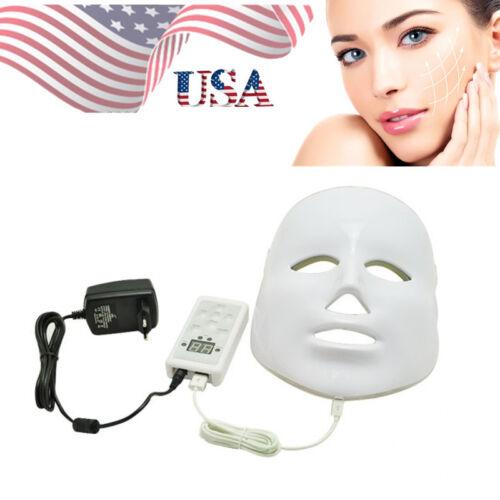 USA Stock 3 Colors Light Photon LED Facial Mask Rejuvenation Beauty Therapy Tool