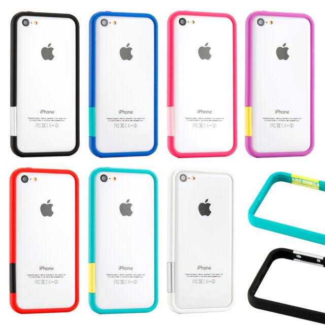 TPU Bumper Frame Matte Slim Rubber Cute Color Case Cover for iPhone 5C