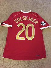 MANCHESTER UNITED HOME SHIRT 2006/07 ADULTS LARGE (L) SOLSKJAER 20 JERSEY
