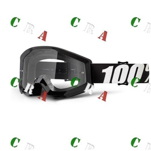 100/% Motocross MTB occhiali STRATA  Enduro KTM Supermoto Cross OUTLAW NERI
