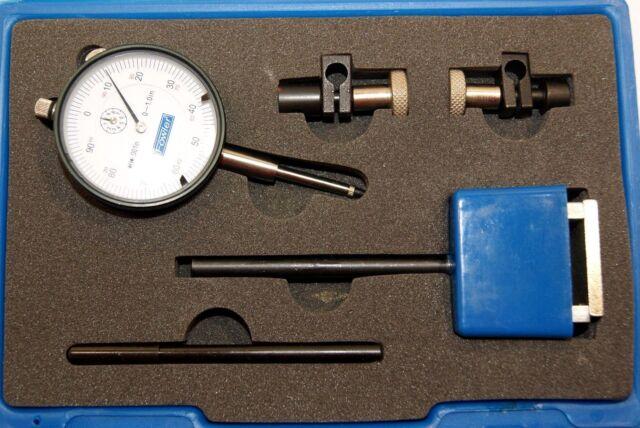 "80 lbs Magnetic Base Fine Aajustment Dial Indicator 1/""//0.001/"" Long Range Case"