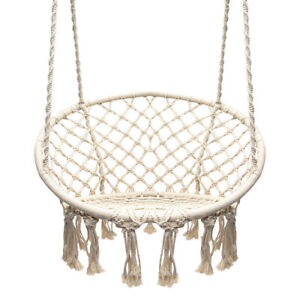 Superb Details About Garden Swing Macrame Outdoor Cotton Rope Hammock Indoor Home Round Hanging Chair Ibusinesslaw Wood Chair Design Ideas Ibusinesslaworg