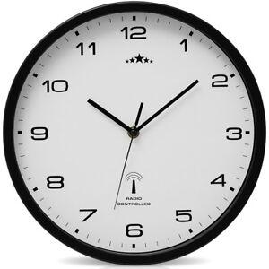 Wanduhr-Funkuhr-Quarz-Funkwanduhr-Analog-Uhr-31cm-Zeitumstellung-Automatisch