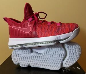 aad2d9b5840c Nike Kevin Durant Shoes Nike Zoom KD9 GS Kids Womens Sneakers Red ...