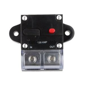 Car stereo audio 12v circuit breaker fuse inline fits 4 for 150 amp service wire size
