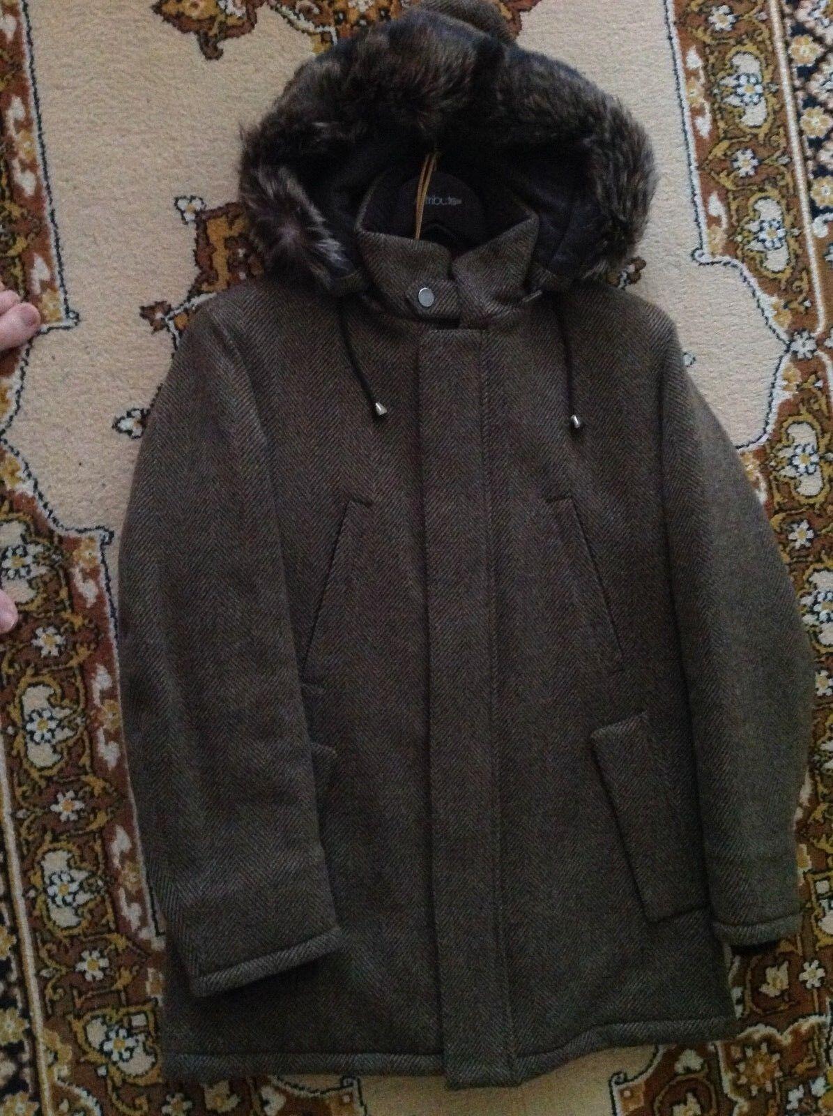 LORO PIANA Herren coat with detachable hood with fur 100% cashmere XS EU