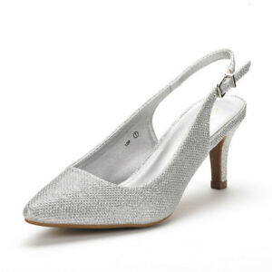 DREAM-PAIRS-Women-039-s-Lop-Low-Heel-Slingback-Pump-Shoes