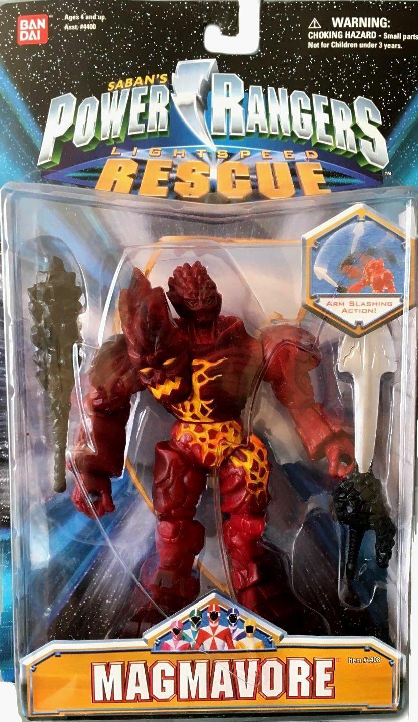 Power Rangers Lightspeed Rescue Evil 5  magmavore Nuevo Sellado De Fábrica 2000