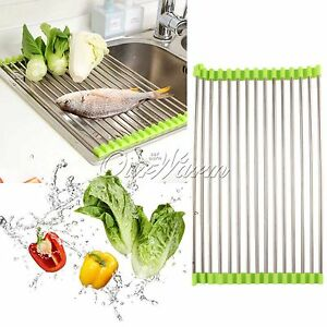 kitchen sink drainer trays stainless steel kitchen sink folding roller drainer tray 5764