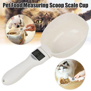 Pet-Dog-amp-Cat-Food-Measuring-Spoon-Weighing-Scale-Cup-Feeding-Bowls-Portable