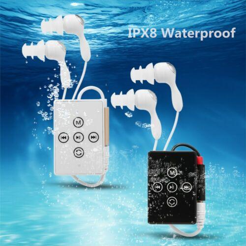 Waterproof 8GB Sport MP3 Music Player FM Radio w//Headphone Clip Swimming Running
