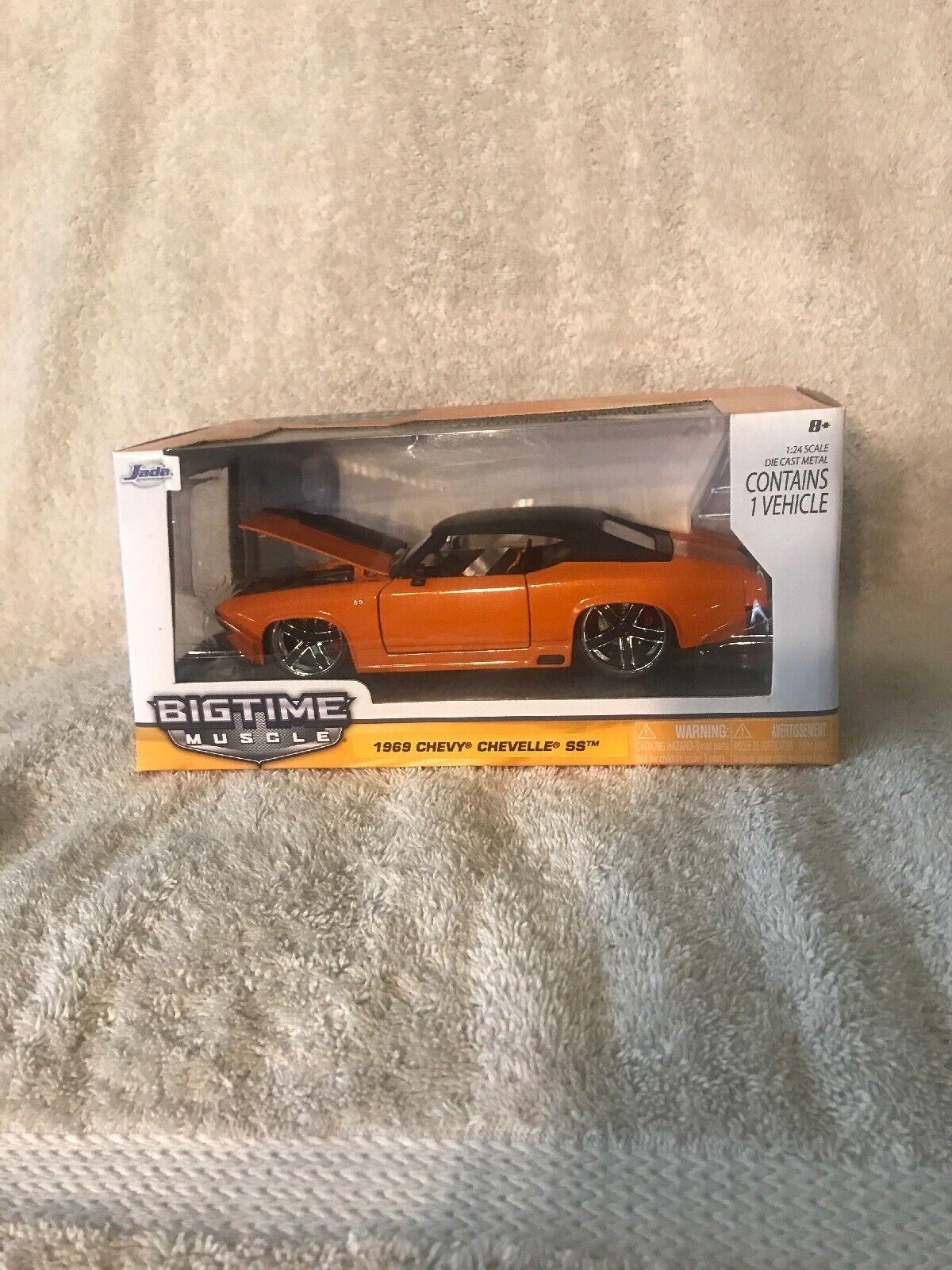 nuevo listado Jada 1 24 Bigtime Muscle Naranja 1969 1969 1969 Chevy Chevelle Ss Nuevo En Caja. muy difícil de encontrar   ahorre 60% de descuento