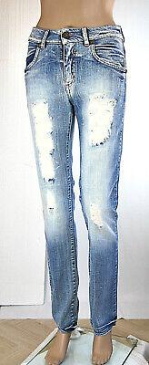 Jeans Donna Pantaloni MET Made in Italy Karma SA050 Tg 26 27 29