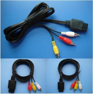 1-8m-6FT-AV-TV-RCA-Video-Cord-Cable-For-Game-cube-SNES-GameCube-Nintendo-N64-64