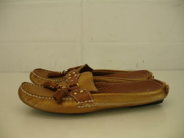 Mujeres 7 AA N Cole Haan Aire Metálico oro oro oro Bronce Borla Mocasín Zapatos mula diapositivas  tomamos a los clientes como nuestro dios