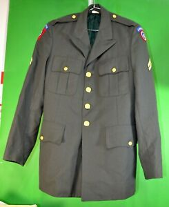 US-Army-Military-Green-Class-A-Uniform-Dress-Jacket-Coat-37L-AIRBORNE