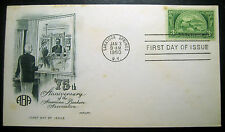1950 Three Cent Stamp American Bankers Assn. Unaddressed FDC ArtMaster Cachet!