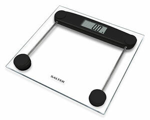 Salter Compact Electronic Bathroom Scales Toughened Gl Measure Body Weight