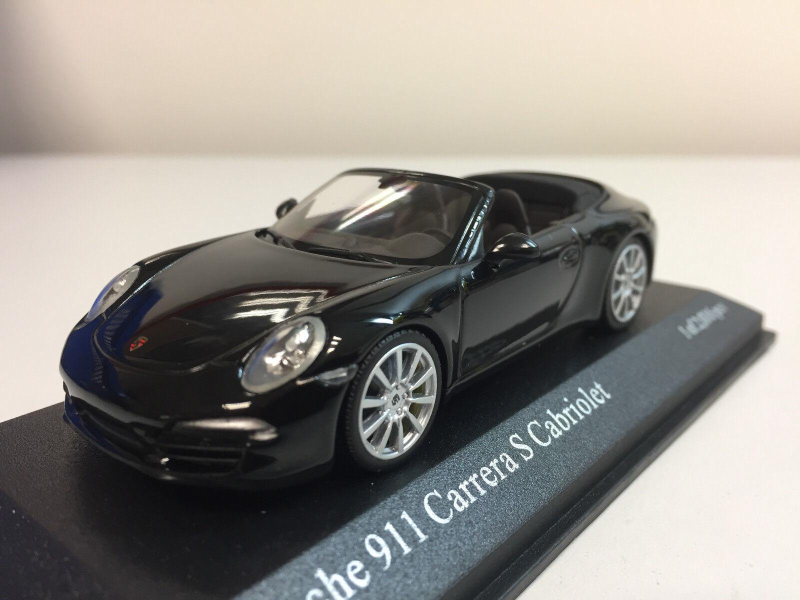 Minichamps Porsche 911 Carrera S Cabriolet 2012 nero 1 43 410060230
