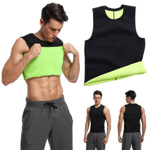 d96293b0b9ff Men Slimming Body Shaper Neoprene Sport Vest Sweat Fat Burning Waist ...