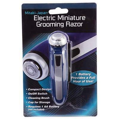 Small Cordless ELECTRIC SHAVER Groomer Trimmer Battery Operated Travel Beard