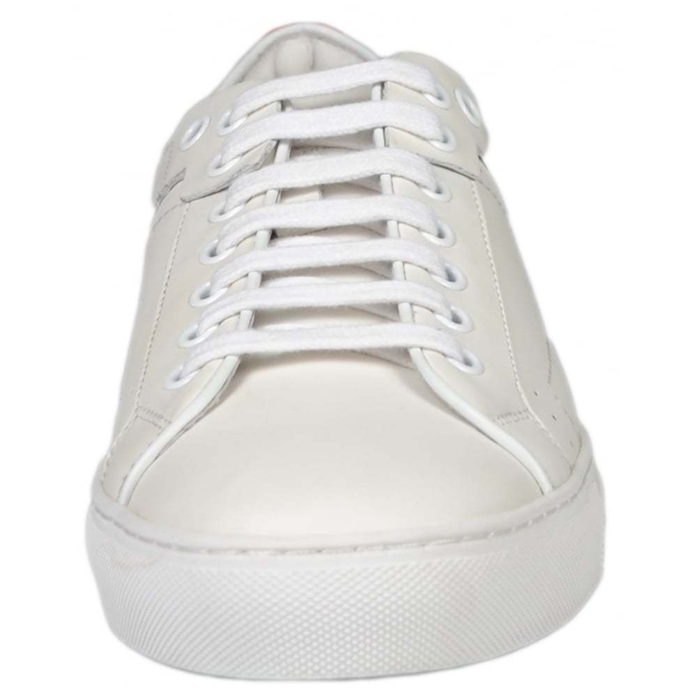 Hugo Boss Footwear White Red Futurism All White Footwear Leather Trainer fd5981
