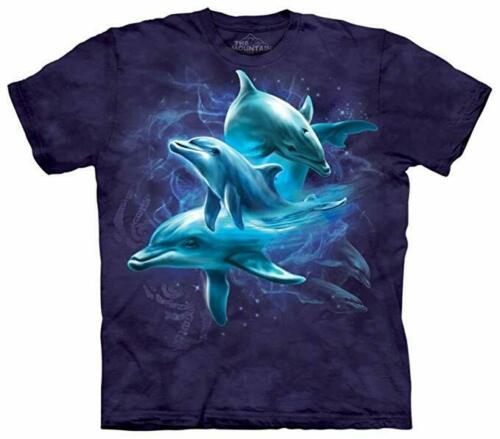 The Mountain Kids 100/% Cotton Dolphin Collage Blue T-Shirt Youth Size XL NWT